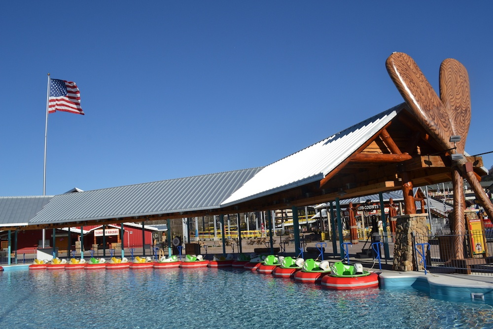 Bumper boats at the Track